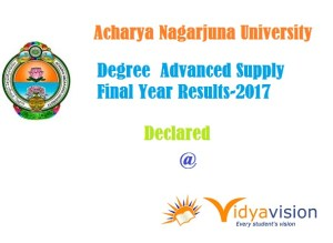 ANU degree Advanced supply final year result 2017