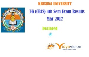KRU UG (CBCS) 4th Sem Exam Results Mar 2017