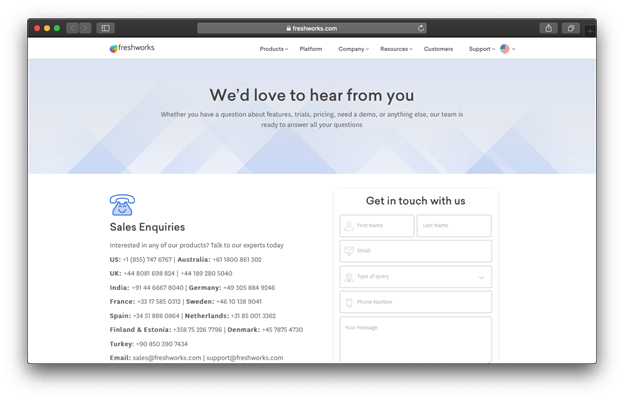 This is a great example for a professional contact page.