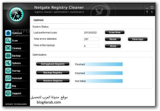 تحميل أفضل برنامج لتنظيف الكمبيوتر واللاب توب وتسريعه Registry Cleaner
