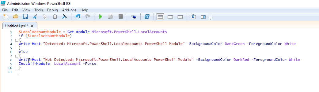 Creating/Managing Local User Account in Windows 10 using PowerShell