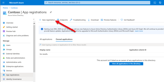 Configuring Office 365 Service Communications API within your own Azure Active Directory.