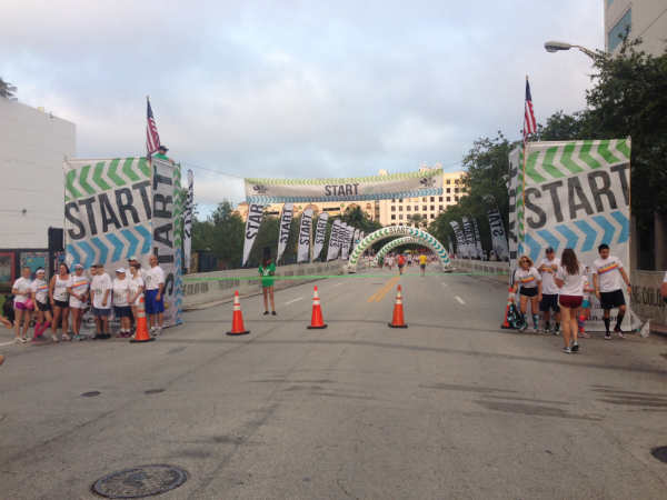 The Color Run Start Chute