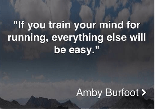 Train your mind for running