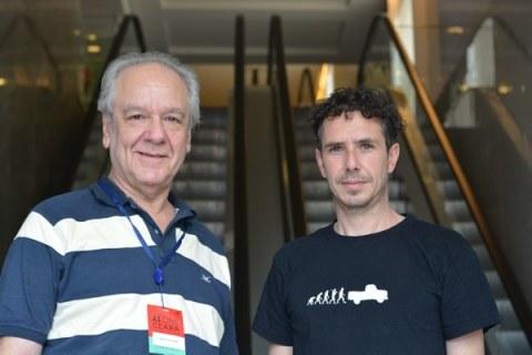 Carlos Frasca (actor) y Diego Fernández Pujol (director) de Rincón de Darwin en el 23 Cine Ceará - (Foto: Jeissy Trompiz)