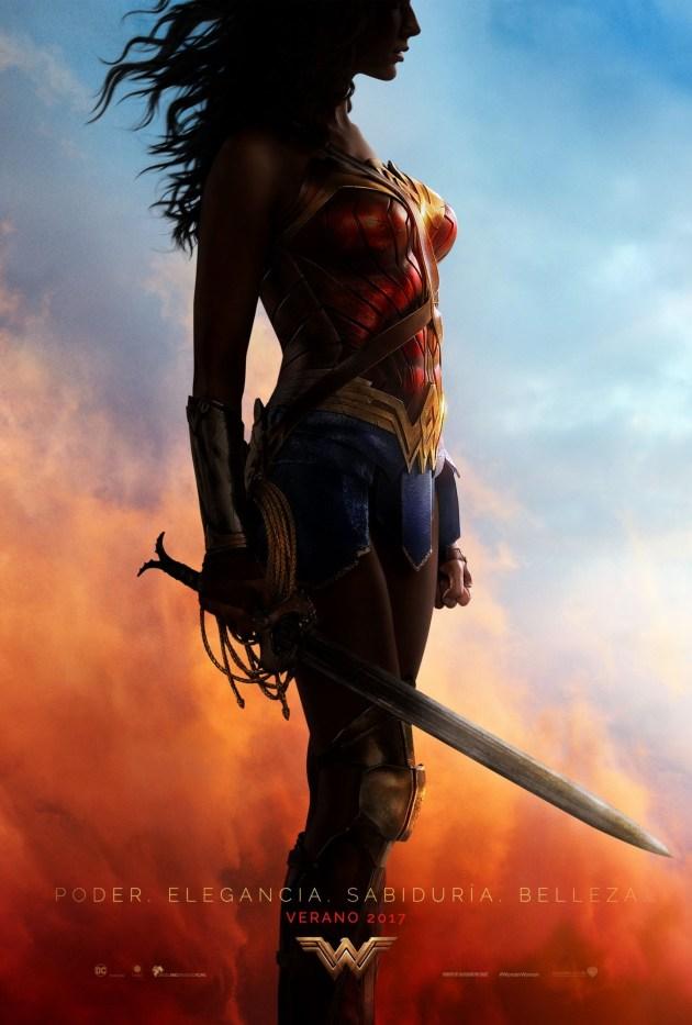 Gal Gadot en el póster de Wonder Woman