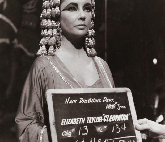 Liz Taylor en el rodaje de Cleopatra