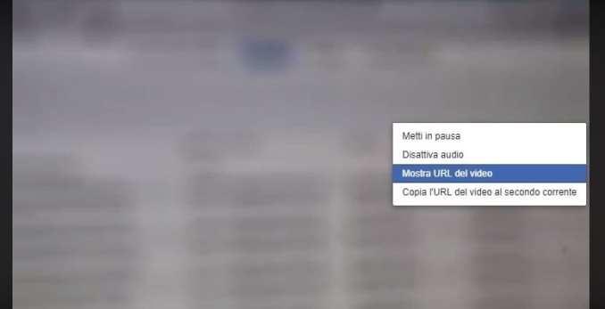 Mostra URL video Facebook