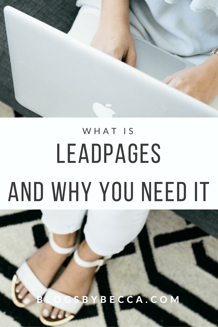 What is Leadpages and why do you need it? Great into about how bloggers can use Leadpages to grow their email lists! Click through for the scoop!