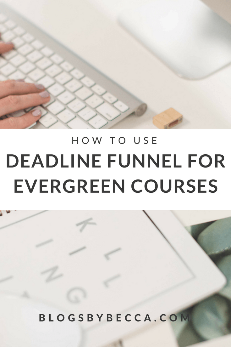 How to add urgency to your evergreen course with Deadline Funnel! Deadline Funnel is a great blog tool for your course! Perfect for bloggers and course creators. Click to get the scoop!