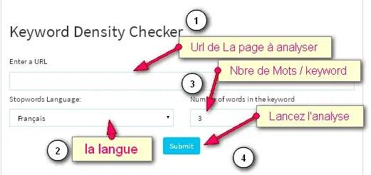 Outil SEO gratuit pour analyser la densité des mots clé dans un article ou une page internet