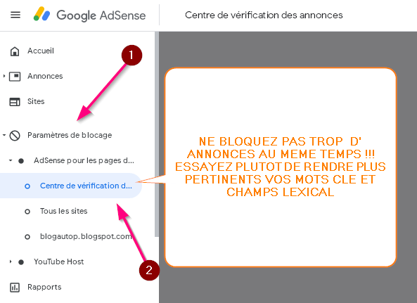 What ad to block without risk of loss of revenue on adsense