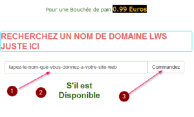 first step to register a domain name