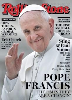 A edição da Rolling Stone com o papa Francisco chega às bancas na próxima sexta-feira (31).