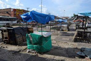 A prefeitura anunciou a retirada das barracas da feira livre durante a semana. A medida deverá entrar em vigor nos próximos 15 dias.(Fotos: Secom PMFS - Washington Nery)