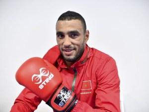 O boxeador marroquino Hassan Saada em foto de 1º de agosto (Foto: Yuri Cortez/AFP)