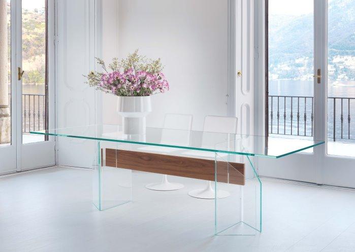 tavolo in vetro extrachiaro