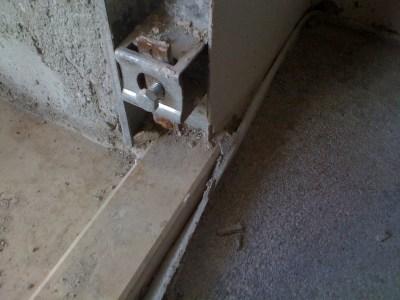 controtelaio in ferro porta blindata