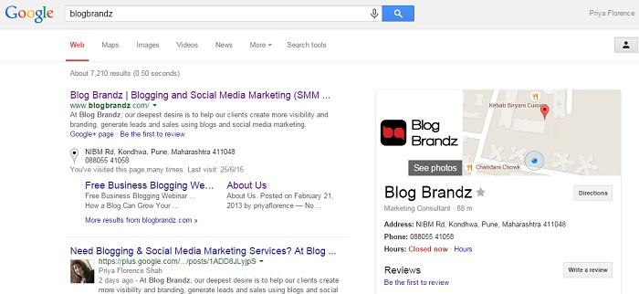 BlogBrandz Google Business Listing