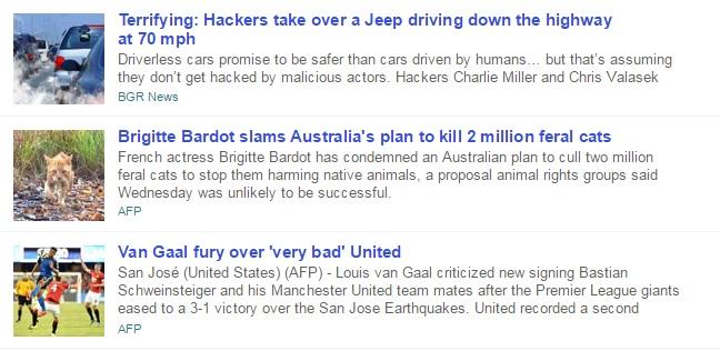 Yahoo News Stories