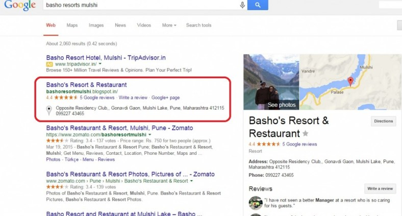 Basho Resort Business Listing