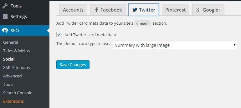 Twitter Cards in Yoast SEO