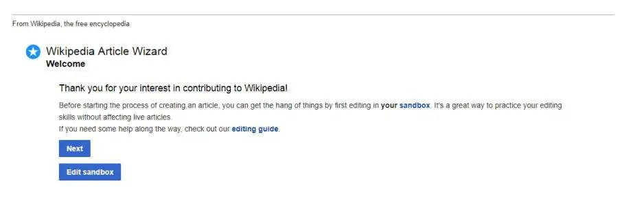 Wikipedia Article wizard
