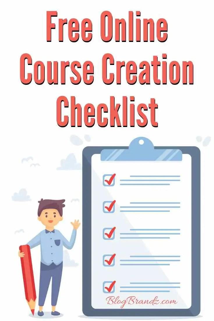 Free Online Course Creation Checklist