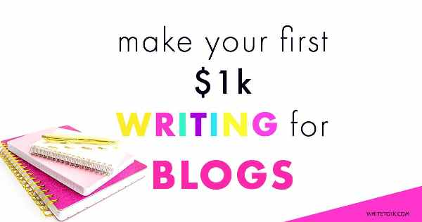 Write Your Way to Your First 1k