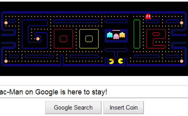 Google S Pac Man Game Doodle Gets A Permanent Home Page