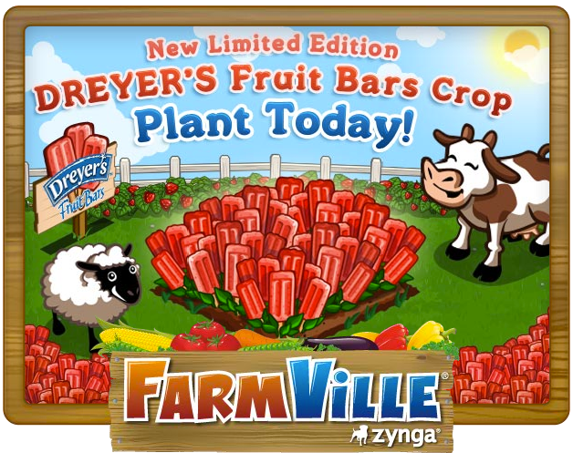 FarmVille Dreyer's Fruit Bar crop