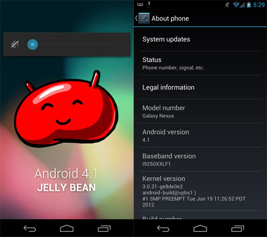 Android 4.1 Jelly Bean ya está llegando a dispositivos Galaxy Nexus HSPA+