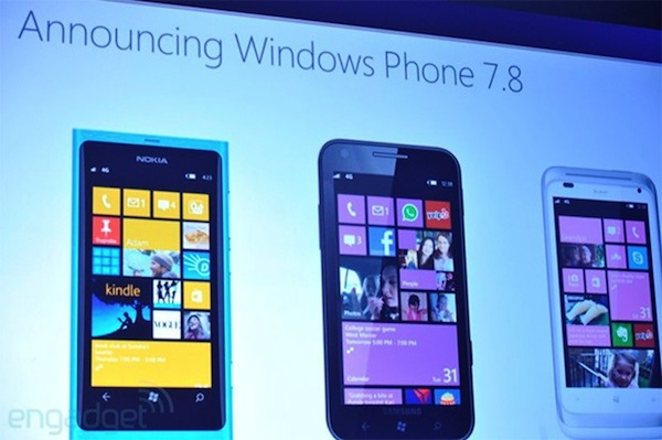 Microsoft confirma que Windows Phone 7.8 llegará a comienzos de 2013