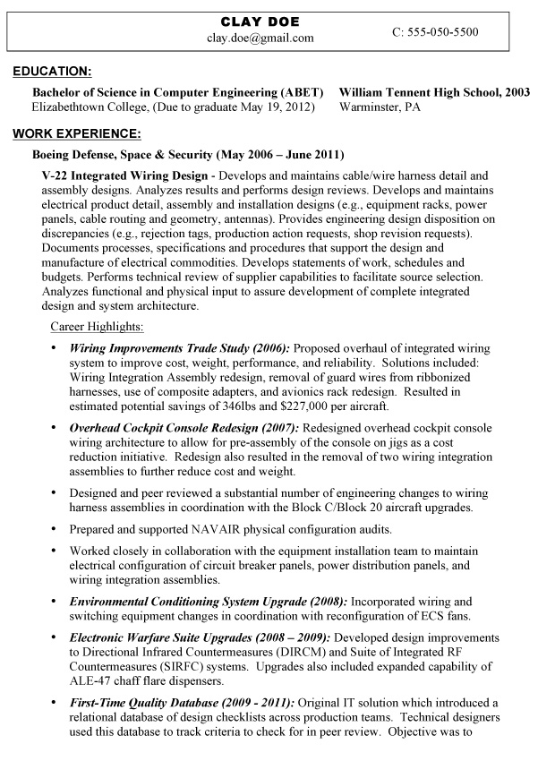interests in resume examples