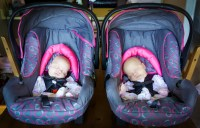 The gallery for --> Newborn Twins In Car Seat