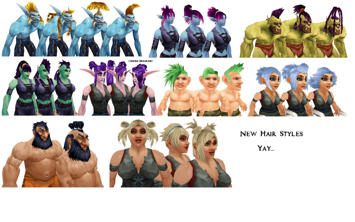 Hairstyles Everyone BUT Orcs