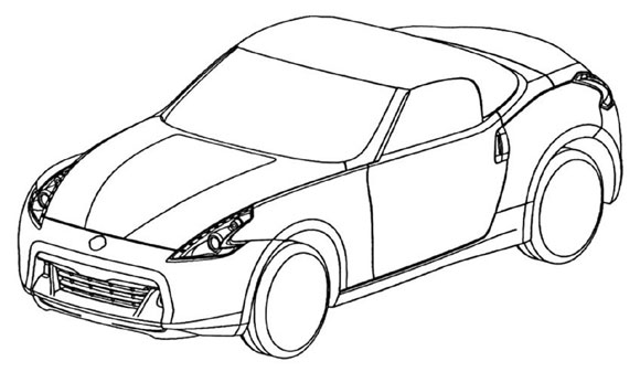 Leaked: Nissan 370Z Roadster patent drawings