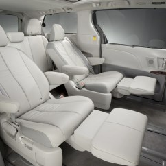 Toyota Sienna Captains Chairs Removal Chair Covers Leather 2011 Vs 2010 Honda Odyssey Clublexus