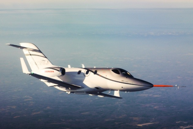 HondaJet in flight