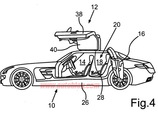Four-door Mercedes-Benz SLS AMG suggested by patent filings?