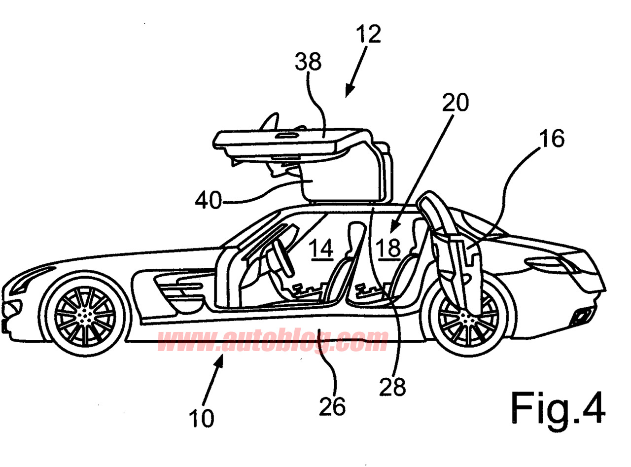 Four Door Mercedes Benz Sls Amg Suggested By Patent