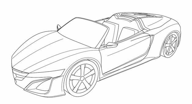 Acura NSX Convertible revealed in patent drawings?