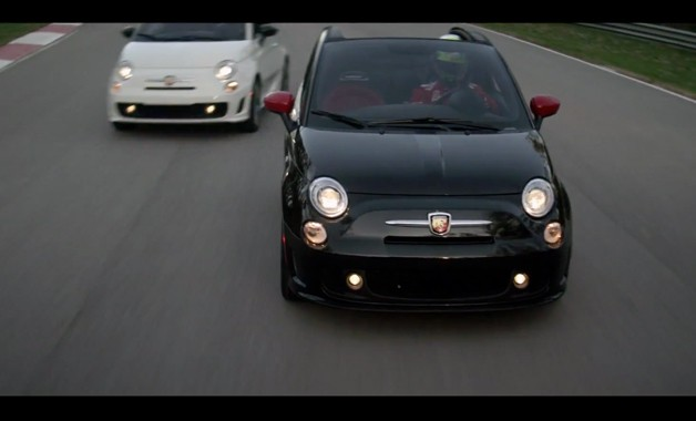 Fiat 500 Abarth Convertible video screen capture