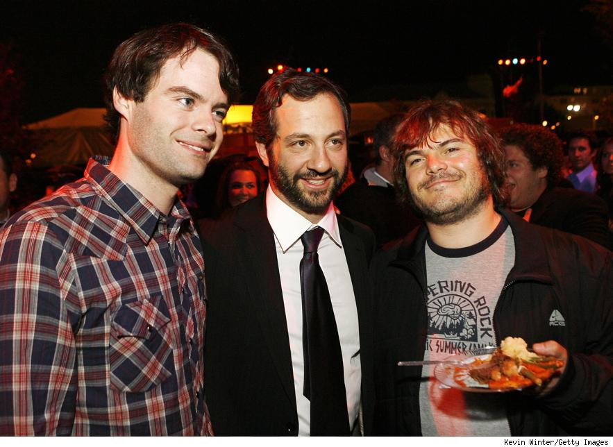 Writer of House of Joel Bill Hader poses with the films producer, Judd Apatow, and actor Jack Black (not currently affiliated with the project).  Photo taken from blogcdn.com.