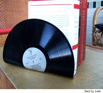 Vinyl record album bookends