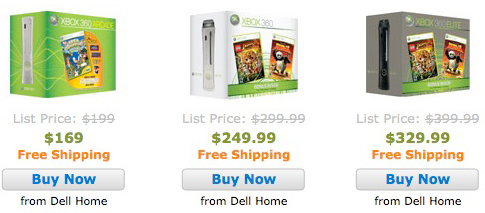 Dell drops prices on Xbox 360s