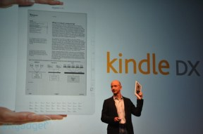 Jeff Bezos announcing the Kindle DX