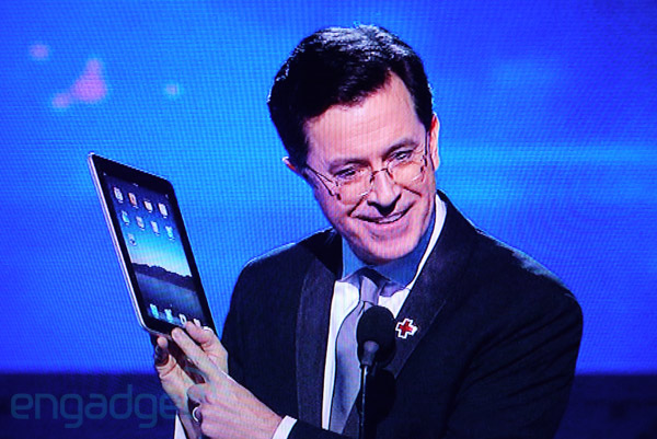 ipad & steve colbert at engadget.com