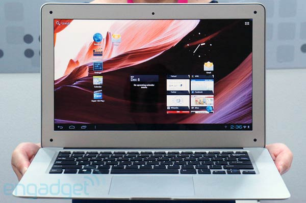 THD N2A is a KIRF MacBook Air that runs Android ICS for $149, we go handson video