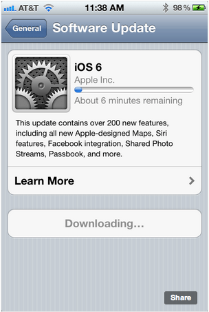iOS 6 now available to download for iPhone, iPad and iPod touch